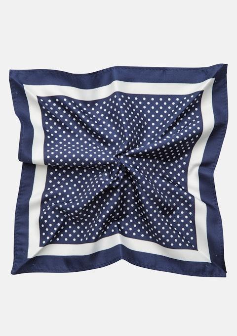 Navy Polka Dot Pocket Square