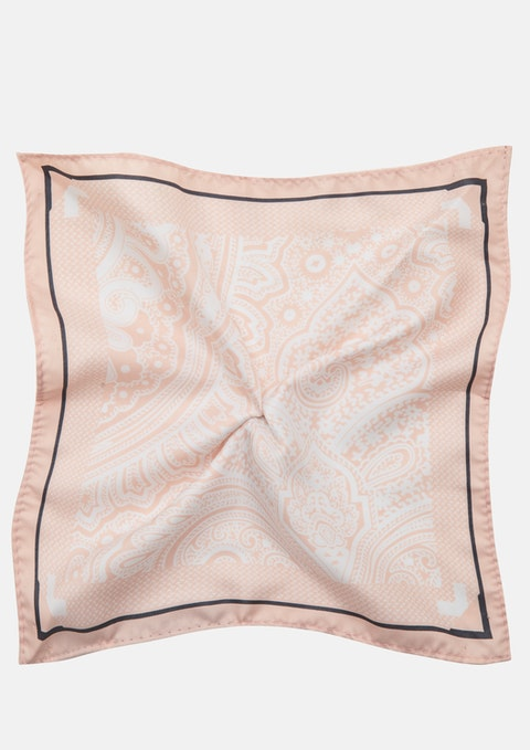 Pink Paisley Pocket Square