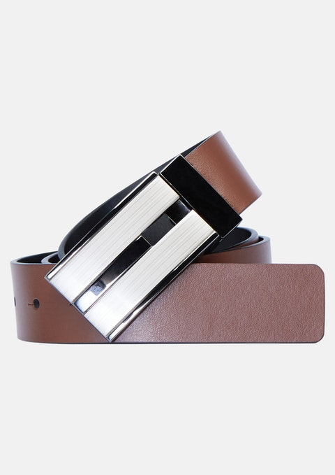 Tan/black Bourbon Reversible Belt