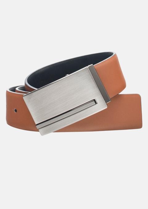Tan/black Matthias Reversible Belt