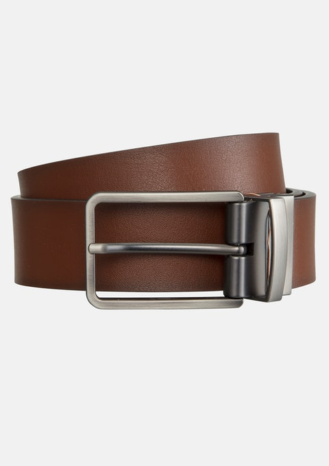 Tan/black Ceebee Reversible Prong Belt