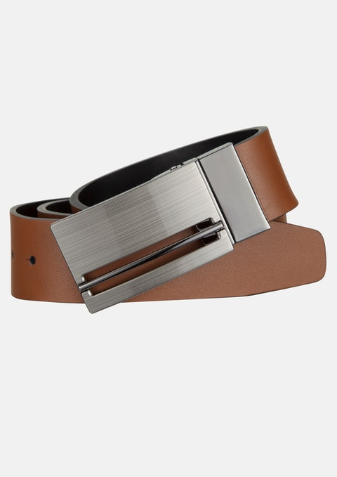 Tan/black Patrick Reversible Belt