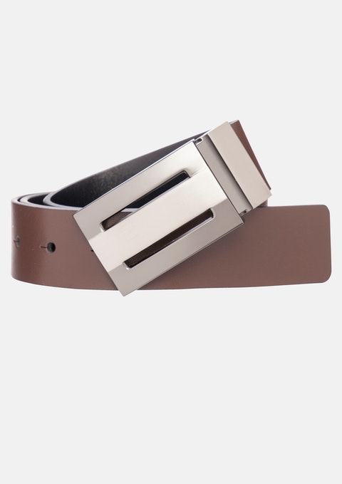 Choc/black Digby Reversible Belt