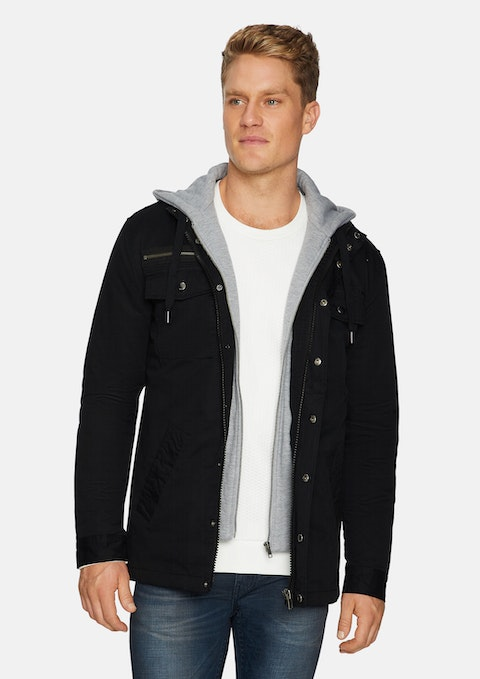Black Reserve Hooded Jacket