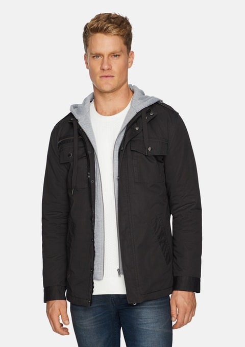 Charcoal Reserve Hooded Jacket