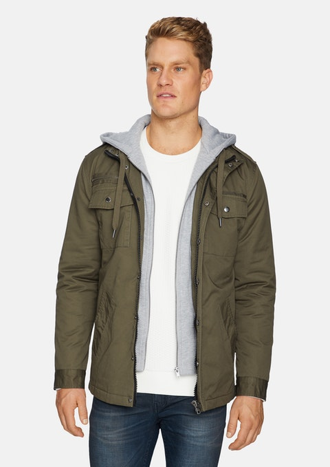 Khaki Reserve Hooded Jacket