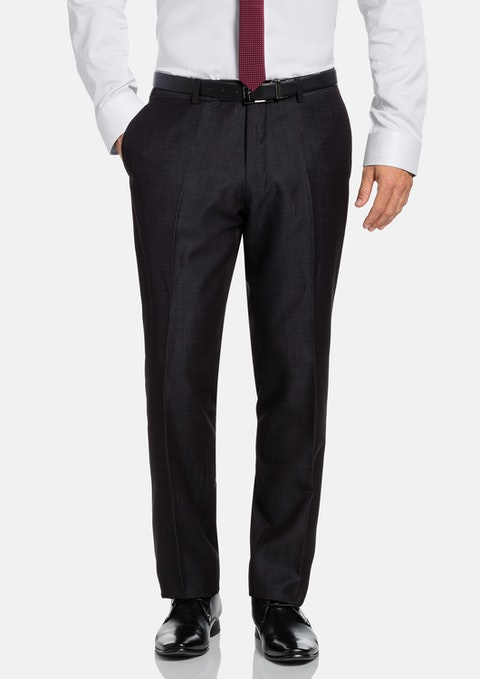 Charcoal Cutter Textured Pant