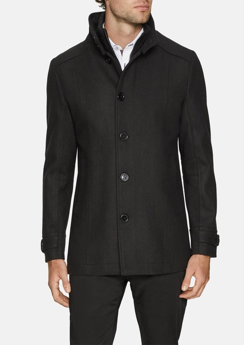 Black Danbury Wool Blend Coat
