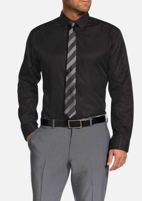 Black Pembrey Slim Dress Shirt