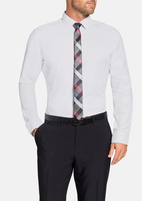 White Chandler Dobby Dress Shirt