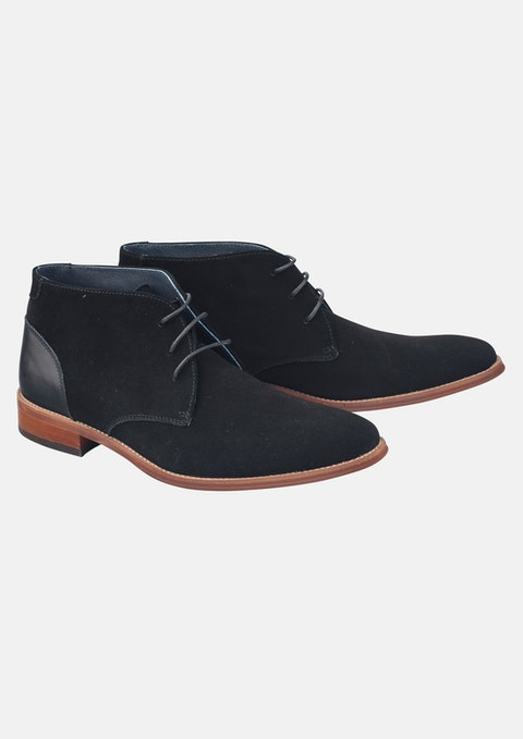 Black Nickolai Suede Boot