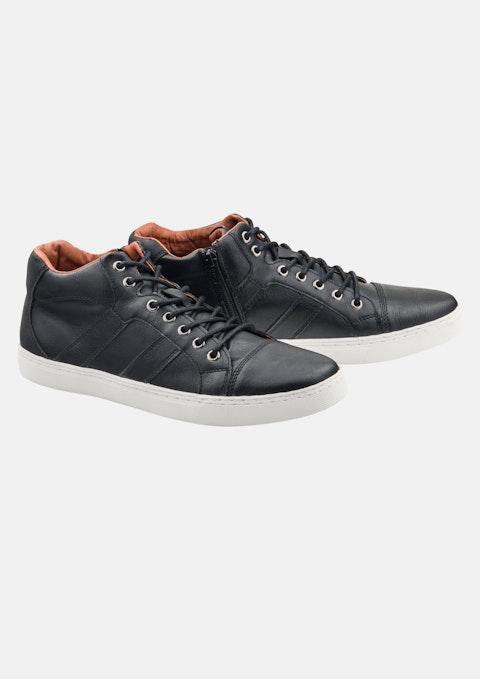 Black Vincent High Top Shoe