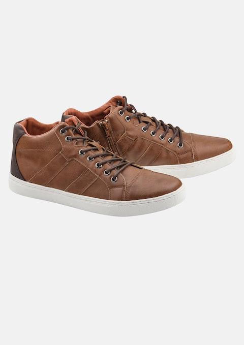Tan Vincent High Top Shoe