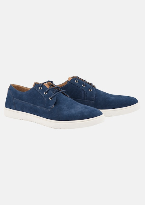 Navy Costa Suede Casual Shoe