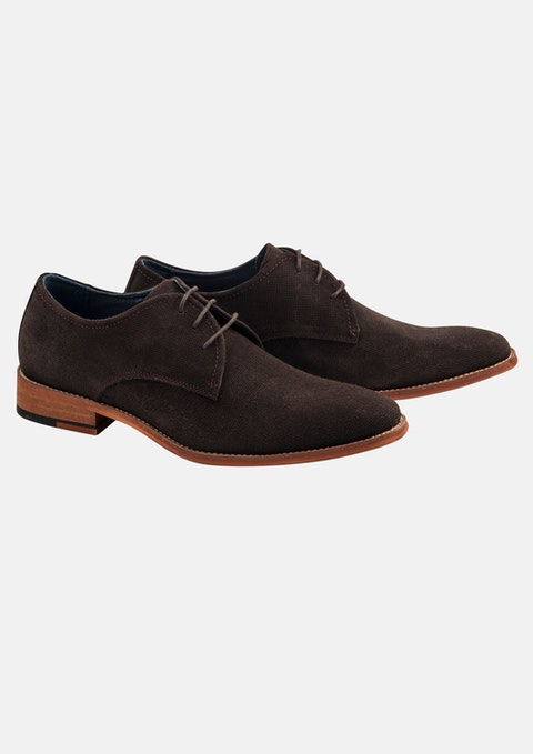 Chocolate Boyd Suede Lace Up Shoe
