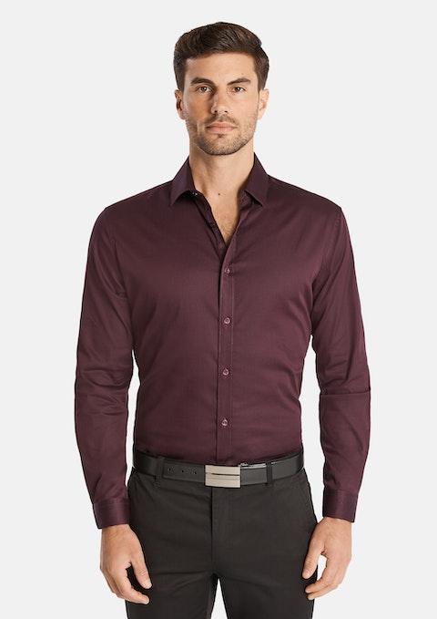 Aubergine Bahamas Slim Stretch Shirt
