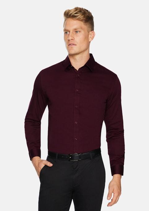 Burgundy Bahamas Slim Stretch Shirt