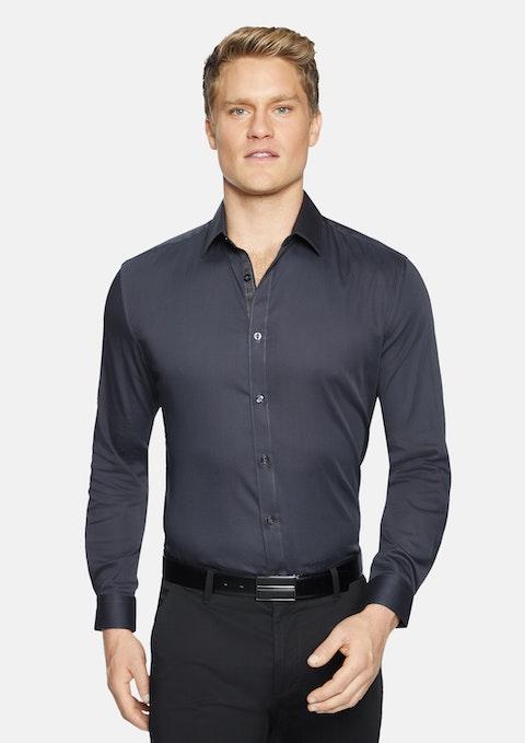 Charcoal Bahamas Slim Stretch Shirt