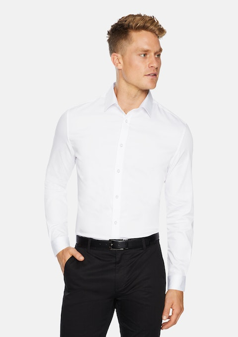 White Bahamas Slim Stretch Shirt