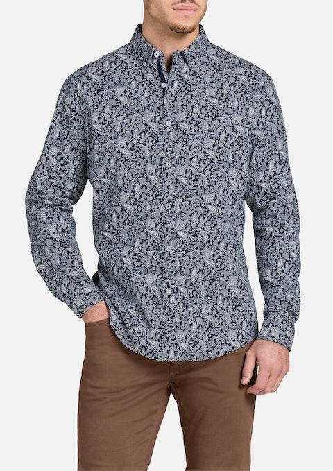 Navy Prince Paisley Print Shirt