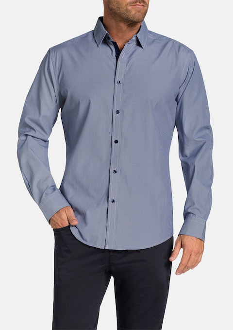 Navy Carpo Textured Shirt