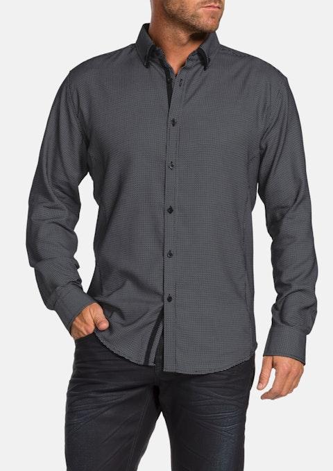 Black Harris Jacquard Shirt
