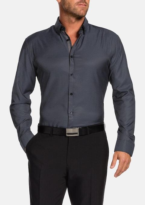 Charcoal Lawson Slim Textured Shirt