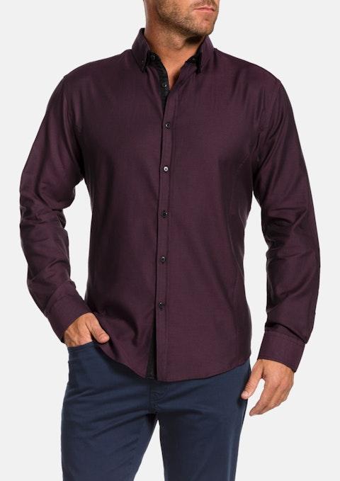 Burgundy Lincoln Textured Shirt