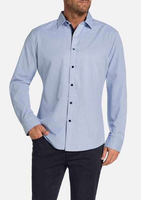 Blue Phillip Check Shirt