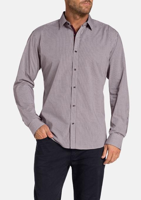 Burgundy Bestic Check Shirt