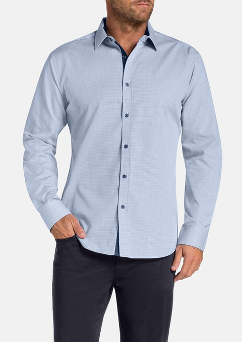 Blue Bermill Check Shirt