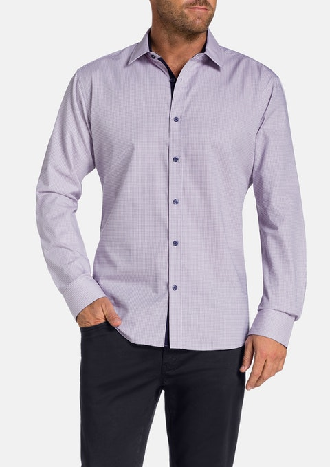 Navy Pittwater Check Shirt