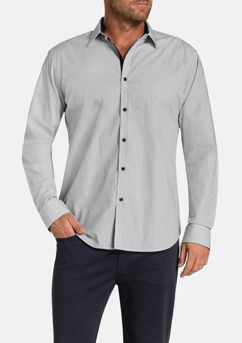 Charcoal Holmes Stripe Shirt