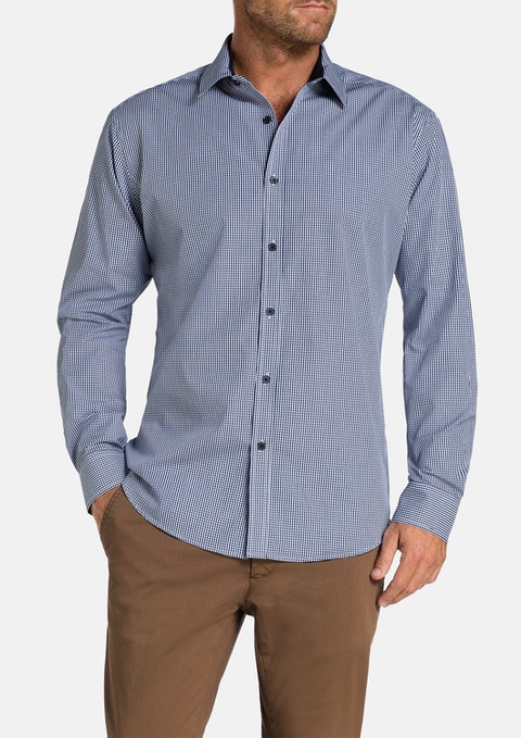 Navy Warwick Check Shirt