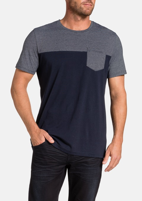 Navy Spliced Tee