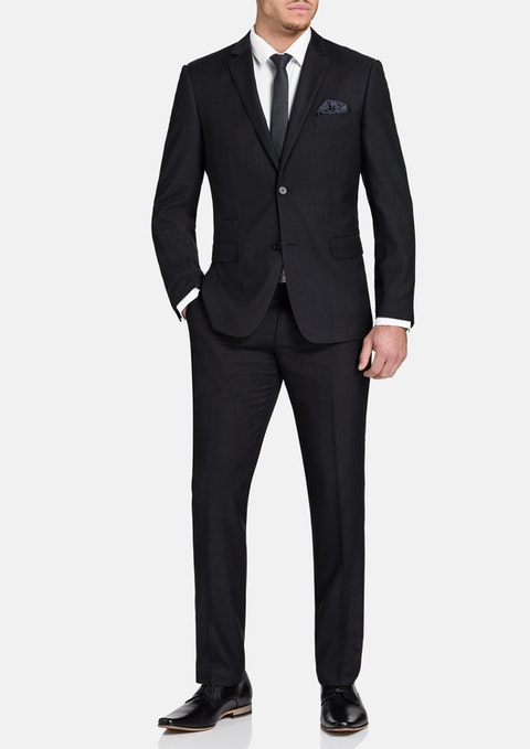 Charcoal Tanner 2 Button Check Suit