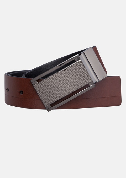 Tan/black Basil Reversible Belt