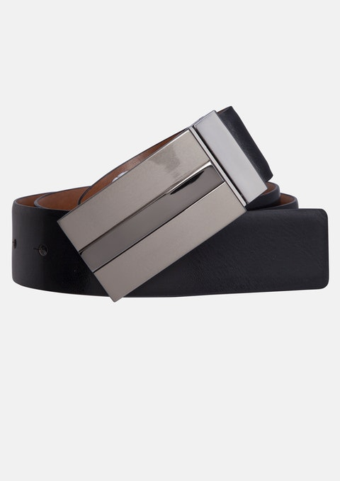 Black/cognac Jonah Reversible Belt