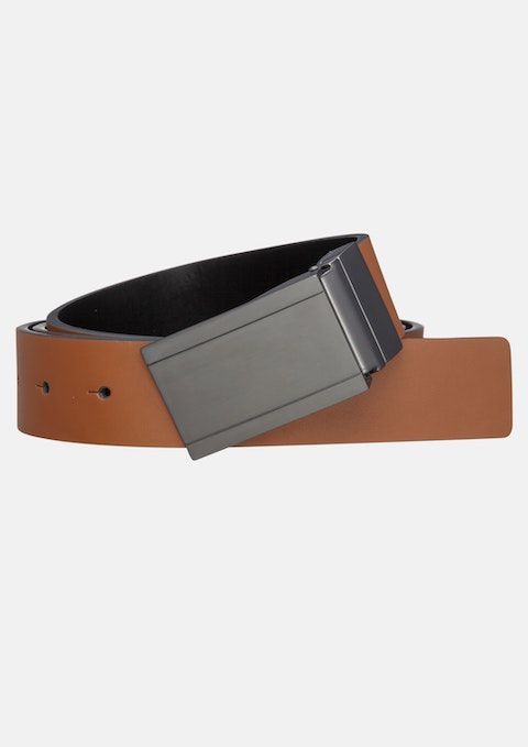 Tan/black Bill Reversible Belt