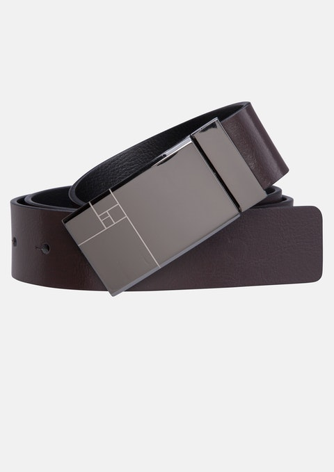 Choc/black Parsons Reversible Belt