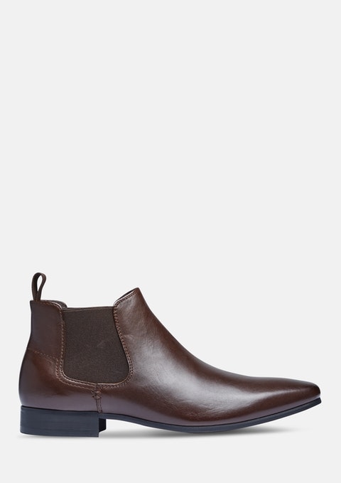 Chocolate New Acton Gusset Boot