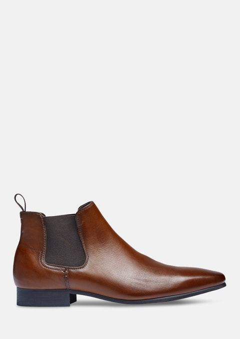 Tan New Acton Gusset Boot