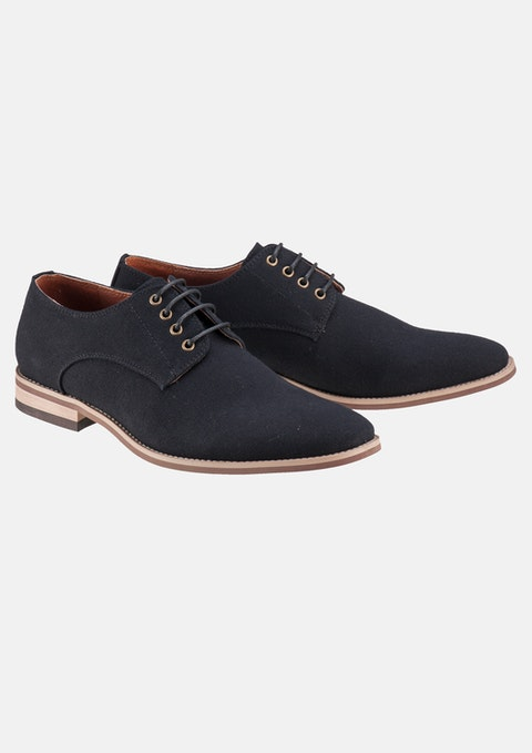 Black Derby Canvas Shoe