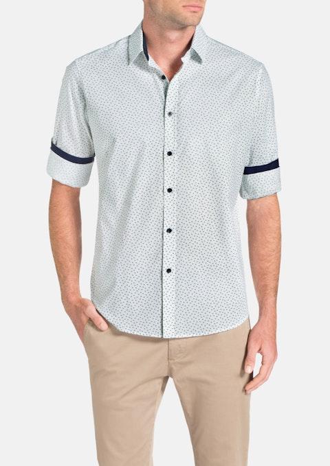 White Dome Print Shirt