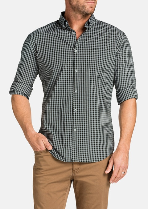 Khaki Slater Slim Check Shirt