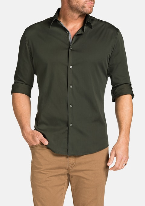 Khaki Earl Slim Stretch Shirt