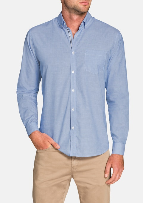 Blue Cool Cotton Shirt