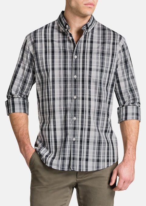 Grey Morton Check Shirt