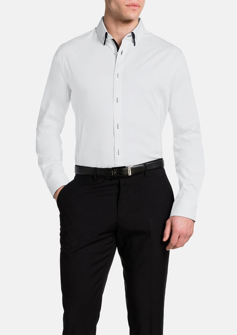 White Coltrane Slim Stretch Shirt