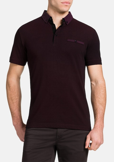 Burgundy Jayden Polo